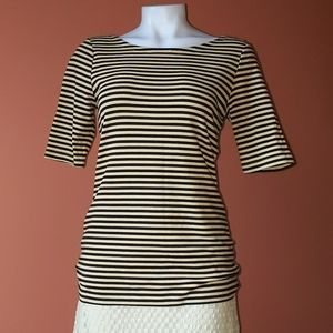 Stripe shirt with lower back